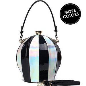 My Bag Lady Online Bags - Holographic Ball Bag Frame Satchel